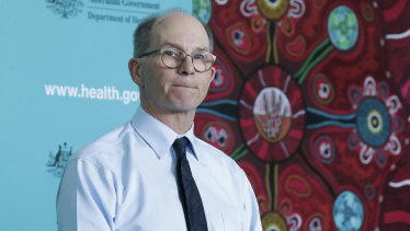 Urging calm: Deputy Chief Medical Officer Paul Kelly in Canberra on Thursday.