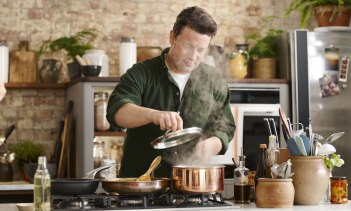 Jamie Oliver enlists his family as crew in his iso-cooking show.