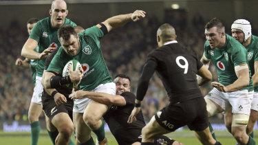 Hoodoo gurus: Ireland have broken their losing stretch against the All Blacks.