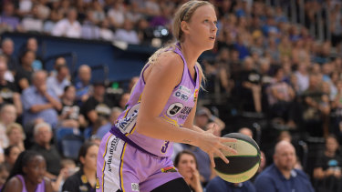 WNBA import Sophie Cunningham in action for the Boomers.