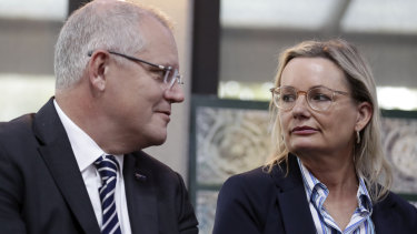 Environment Minister Sussan Ley and Prime Minister Scott Morrison are promoting reforms to waste and recycling laws.