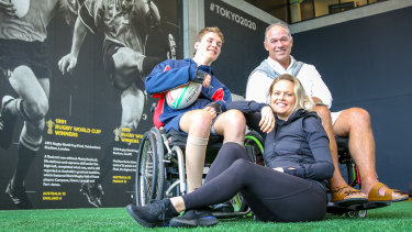 Strong bonds forged: Spinal injury sufferers Alex Noble, Richard Tombs and Tessa Moroney.