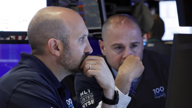Global growth fears returned to Wall Street on Tuesday.
