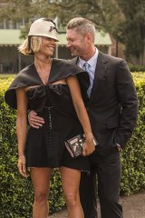Pip Edwards and Michael Clarke made their official debut as a couple at last year's Everest Race Day.