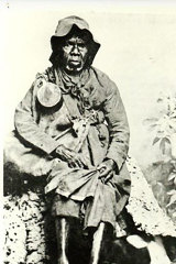 """""""A coveted ancestor"""": Mary Jane Milewa, who died in 1888. Fred Dowling says he is the great-grandson of Milewa's sister. Others say there is no evidence such a sister existed."""