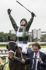 Glen Boss celebrates his Everest success on Yes Yes Yes last year.