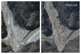 Satellite images taken on May 22 and June 23 appear to show Chinese construction in the Galwan River Valley near the Line of Actual Control between India and China.