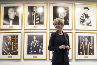 The Australian National University's first female chancellor, Julie Bishop.