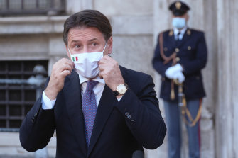 Prime Minister Giuseppe Conte says Italy must take early action to avoid a serious second wave.