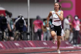 Running for a safer life: Krystsina Tsimanouskaya of Belarus.