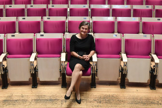 Opera House CEO Louise Herron, pictured in the concert hall, said the decision was not made lightly.