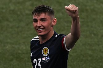 Scotland's Billy Gilmour, pictured on Friday, has tested positive for COVID-19.