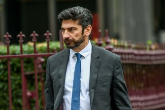 Constantine Arvanitis outside court on Tuesday.