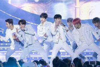 Korean pop band BTS.