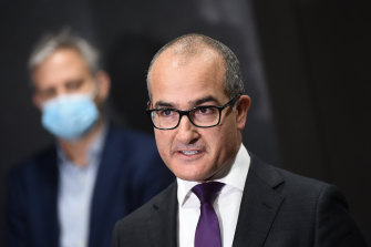 Acting Premier James Merlino said vaccines and alternative quarantine were Australia's route out of the pandemic.