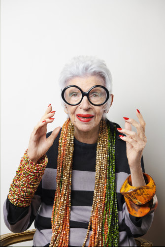 Iris Apfel in Blue Illusion's 2019 campaign.
