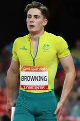 Browning at the Commonwealth Games last year.