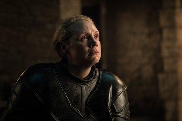 Gwendoline Christie as Brienne of Tarth in Game of Thrones.