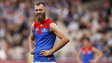 Max Gawn got the better of Brodie Grundy but the Dees always trailed the Pies.