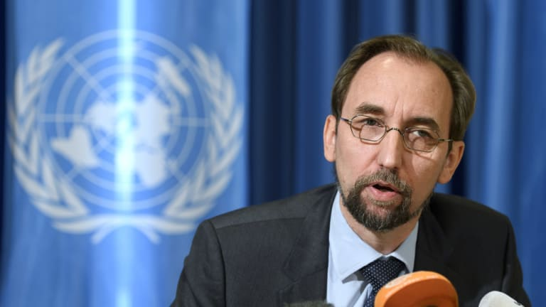 Outgoing UN human rights chief Zeid Raad al-Hussein