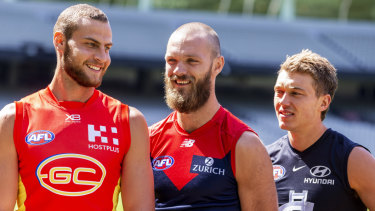 Witts has fellow ruck Max Gawn and giant midfielder Patrick Cripps covered when it comes to size.