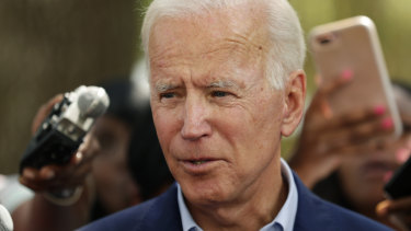 Democratic presidential candidate former vice-president Joe Biden in  Houston on Friday.