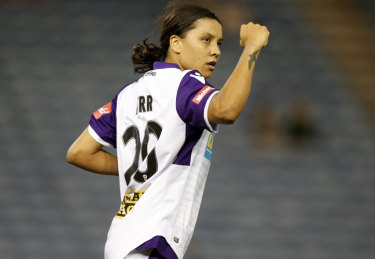Perth Glory's superstar Sam Kerr.