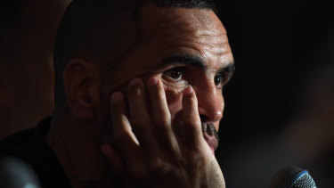 Up to his old tricks: Boxer Anthony Mundine has taken Israel Folau's side.
