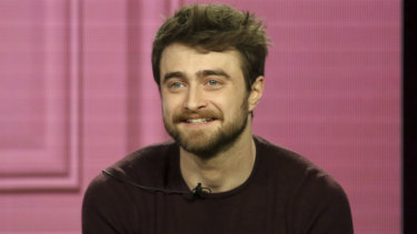 Daniel Radcliffe at a TCA panel for his new sitcom Miracle Workers earlier this month.