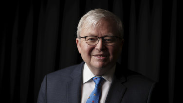 Kevin Rudd says Prime Minister Scott Morrison must take a 'balanced' approach to Australia's relationship with China.