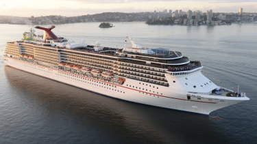 The Carnival Legend in a file picture.