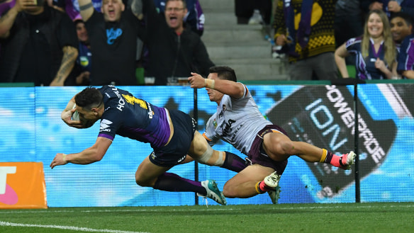 Broncos' season over as Storm surge into grand final with stellar second half