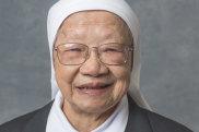 Sister Jacinta Fong works in a hospital's emergency department.
