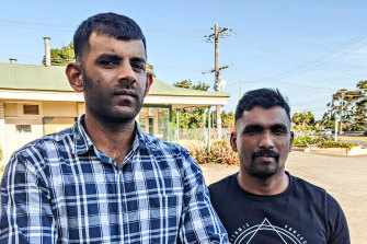 Medevac detainees Subeshan Kanagalingam (left) and Parkeerathan Palasingam have been released from a Melbourne hotel after years in immigration detention.