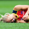 Erin Phillips tore her ACL during the AFLW grand final. Despiter the injury, she won the best-on-ground medal.