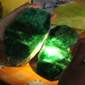 A worker examines the quality of jade stones in Hpakant, northern Myanmar.