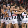 The Pies held on to win a thriller on Anzac Day.