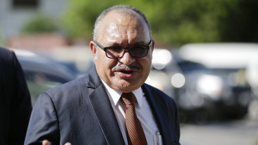 Officially resigned: Papua New Guinea's Prime Minister Peter O'Neill.