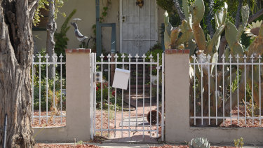The front entrance of accused Robert Chain's house.