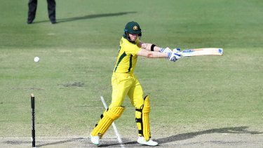 Steve Smith in action for an Australian XI.