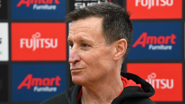 """Bombers coach John Worsfold is predicting a """"brutal"""" round 23 clash."""