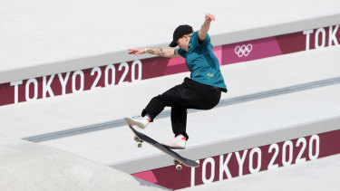 Australia's Hayley Wilson was knocked out during heat two on day three of the Tokyo Olympics.
