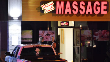 One of the massage parlours where a gunman killed people in Atlanta.