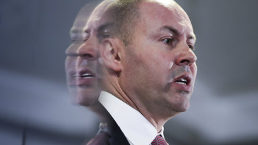Treasurer Josh Frydenberg has sliced $2 billion off this year's forecast surplus.