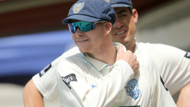 Happier times: Steve Smith playing for NSW.