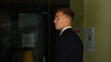 Callan Sinclair outside court.