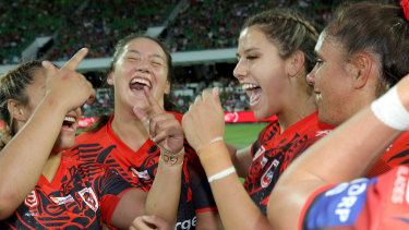 The Dragons triumphed in the inaugural NRL Nines women's grand final.