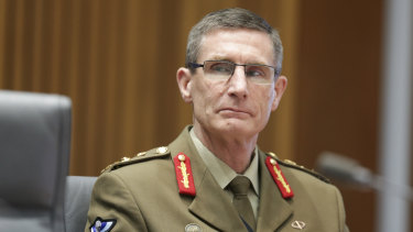 Defence Force Chief General Angus Campbell.
