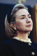 Hillary Clinton pioneered the 'power headband' of the 1990s.