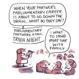 At the Parliamentary Partners Association. Illustration: Matt Golding
